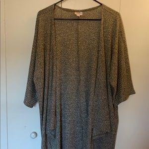 LAST CHANCE LulaRoe Heathered Gray-Green Kimono